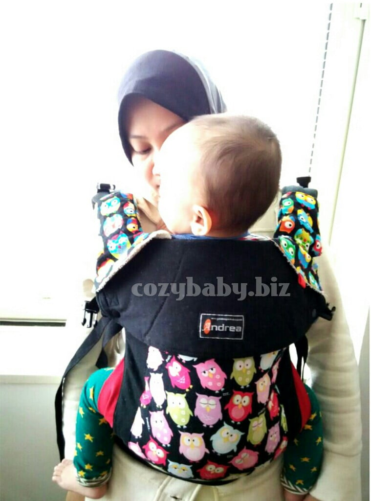 carrier for toddler. front carry with andrea toddler size. the baby is 2 years old carrier for r