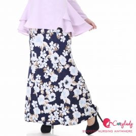Printed Skirt – Blue