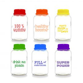 Babypax Rainbow Glass Bottle (6 bottles)