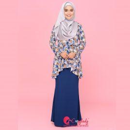 Floral Kurung – Blue