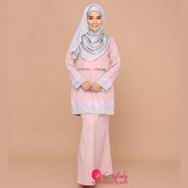 Lacey Kurung – Dusty Pink