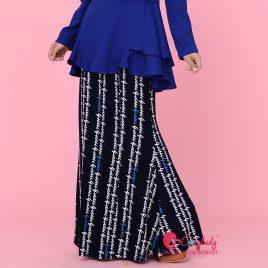 Printed Skirt – Blue Stencil