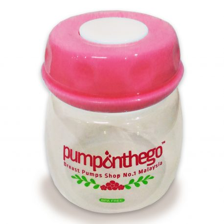 Pump on the go storage bottle 2 oz pink