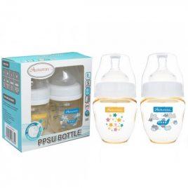 Autumnz – PPSU 4oz Twin Bottle – Stars n Aeroplane