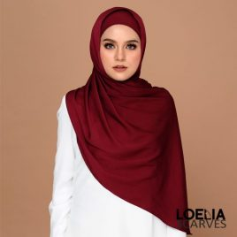 Basic Long Shawl – Maroon