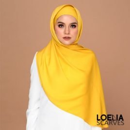 Basic Long Shawl – Mustard
