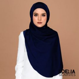 Basic Long Shawl – Navy