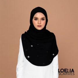 Swarozski Long Shawl – Black