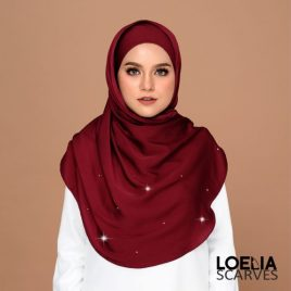 Swarozski Long Shawl – Maroon