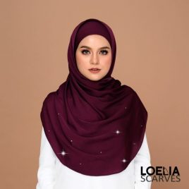 Swarozski Long Shawl – Plum