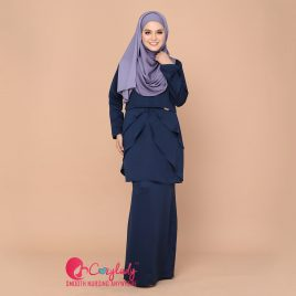 Colostra Kurung – Navy