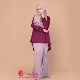 [Pre-order] Diamante Kurung – Purple