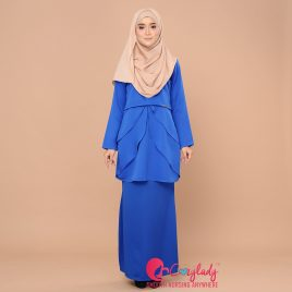 Colostra Kurung – Royal Blue