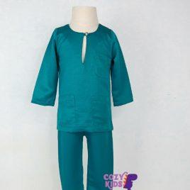 Kids Baju Melayu – Turquoise