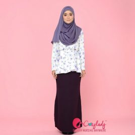 Floral Kurung – Purple