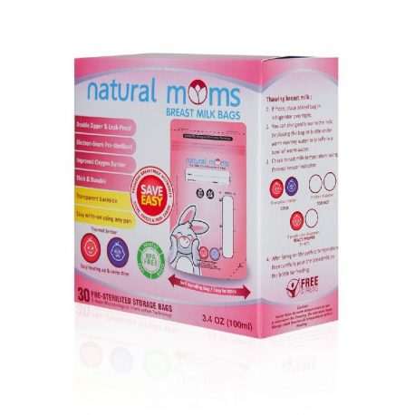 natural moms breastmilk bags 100ml 1