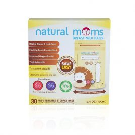 Natural Moms – 5 boxes – Yellow Breastmilk Bag 100ml