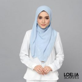 Aria Square Scarf – Baby Blue