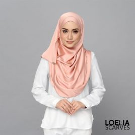 Aadya Satin Shawl – Peach