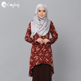 Fishtail Printed – Maroon