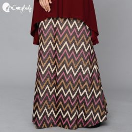 Fishtail Skirt – Chevron Maroon