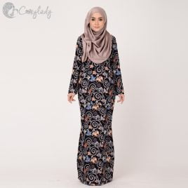 Ossitocassic Kurung – Pakis Black