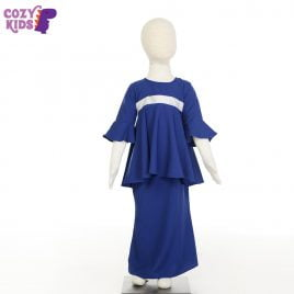 Kids Kurung- Royal Blue