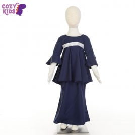 Kids Kurung – Navy