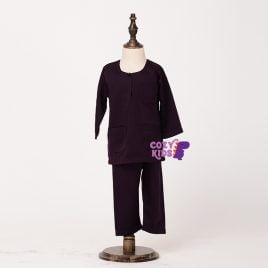 Kids Baju Melayu – Purple