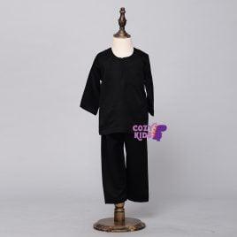 Kids Baju Melayu – Black