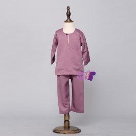 Kids Baju Melayu – Lilac