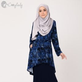 Fishtail Printed – Blue