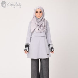 Stripe T – Grey