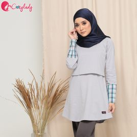 Checkered T – Grey