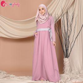 Lacey Jubah – Rose Pink
