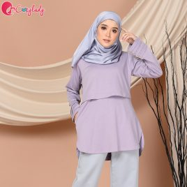 Pleated T – Purple