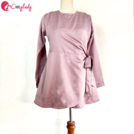 As-Is – Wrap Blouse Lilac (Size S)