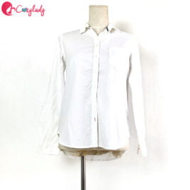 Preloved – Button-up Shirt White (Size S)